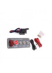 Painel Eletrônico Racing com Botão Tipo Caça e Botão Start e Chaves Extras Epman